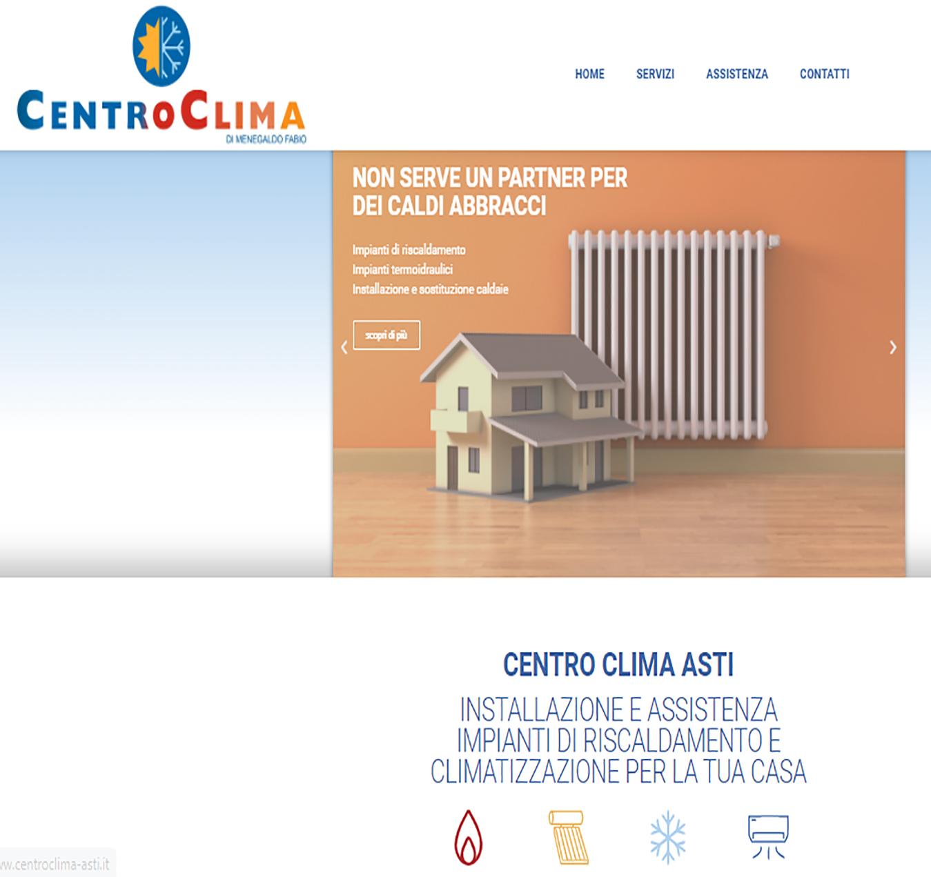 assistenza caldaie Asti sito internet centro clima Essetre web