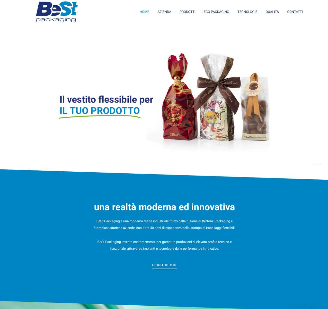 Sito interattivo azienda packaging imballi flessibili Alba Best Packaging Essetre