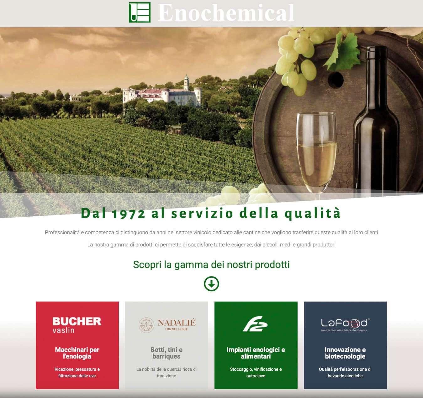 sito internet enochemical Asti settore vinicolo Essetre agenzia web