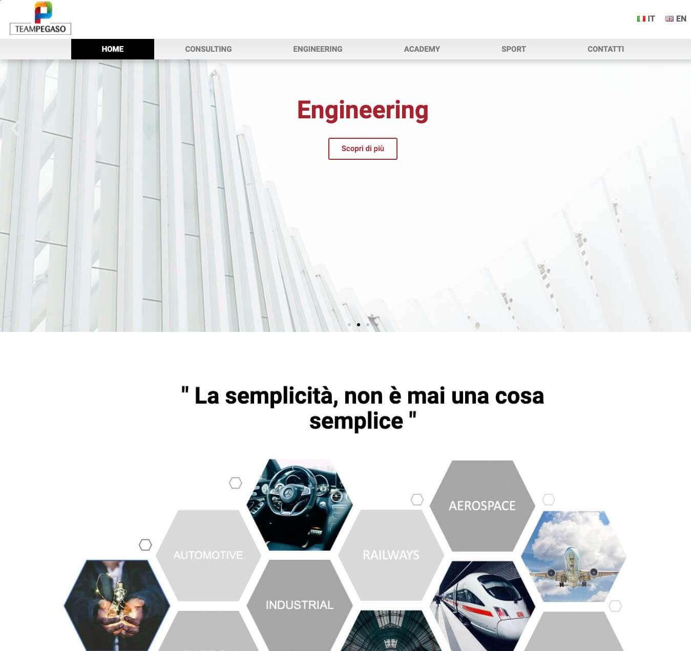 sito società di consulenza e ingegneria TeamPegaso Asti Essetre
