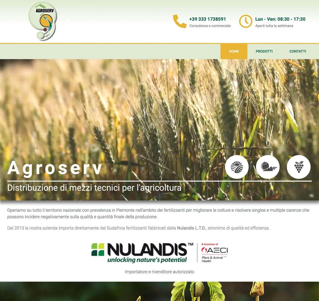 sito internet servizi agricoltura Agroserv Asti Essetre agenzia web