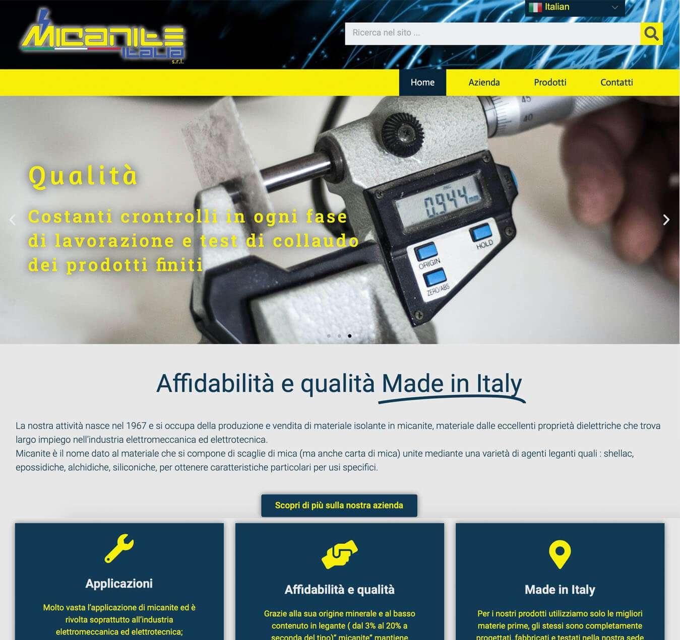 sito Micanite Italia Asti Essetre agenzia web