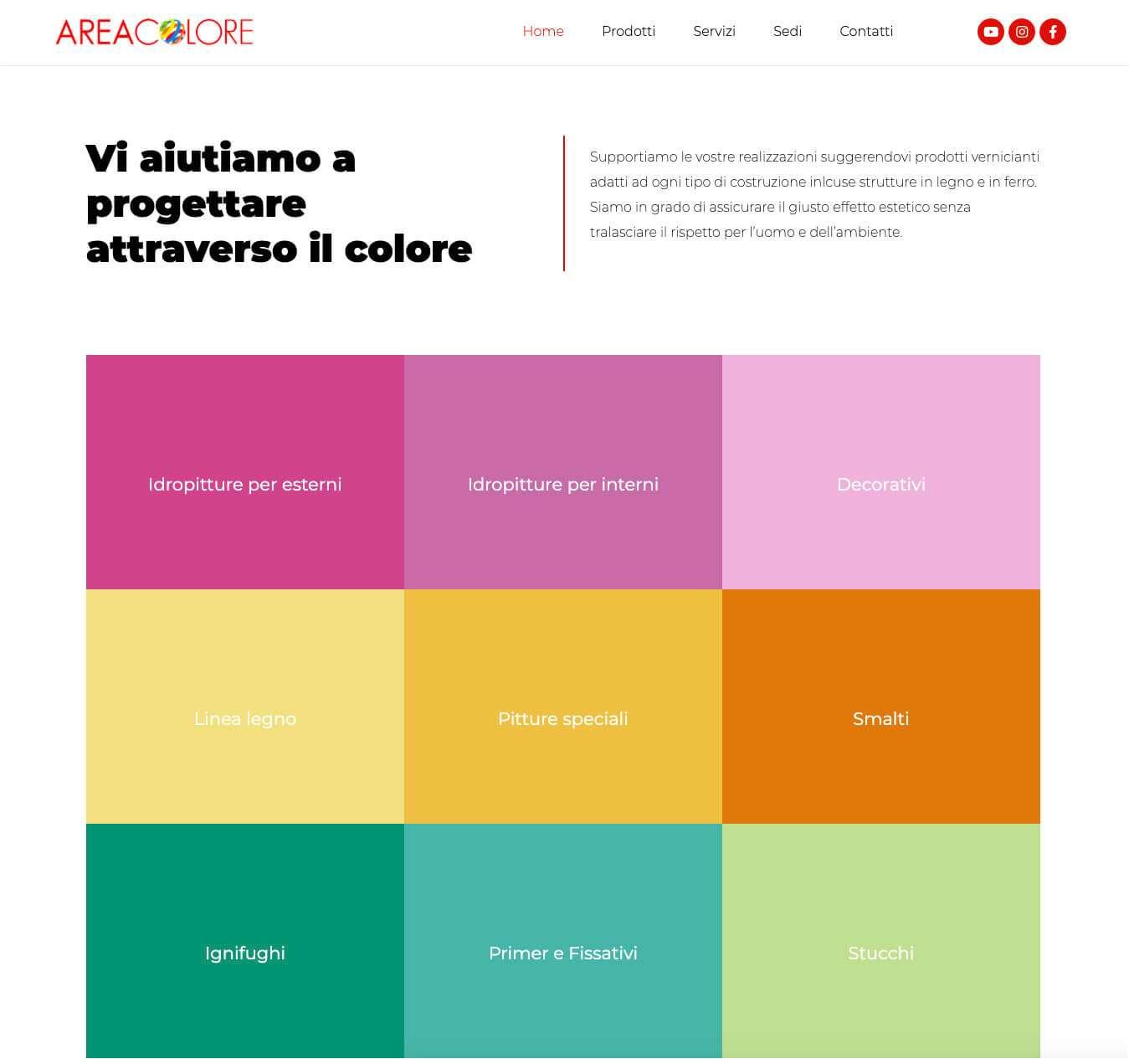 colorificio Asti AreaColore sito web Essetre Alba