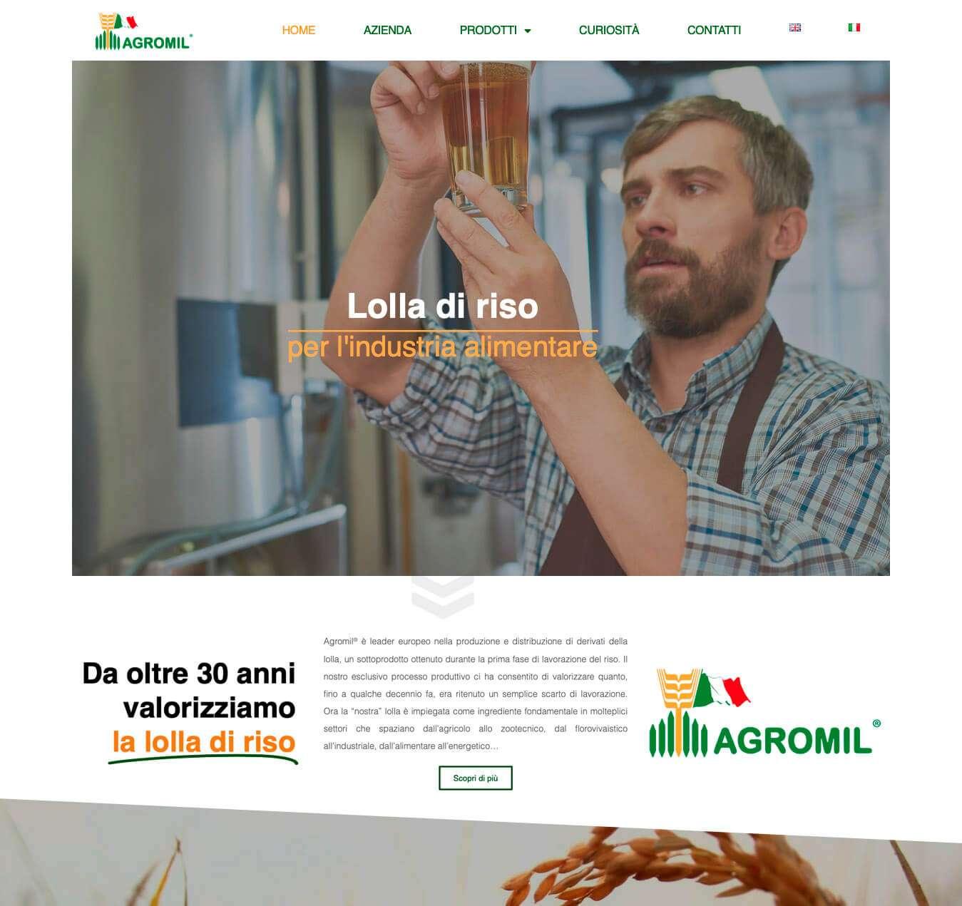 lolla di riso Agromil Pavia siti internet Essetre web