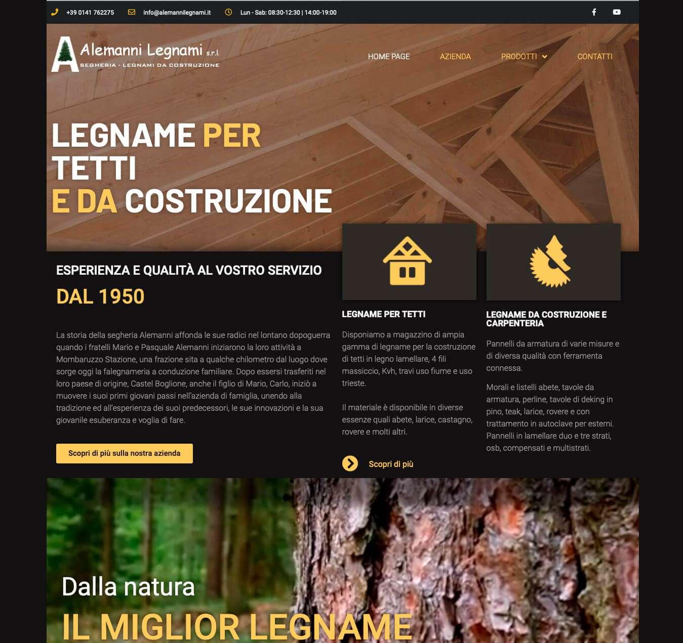sito azienda legnami Asti Alemanni Essetre agenzia web