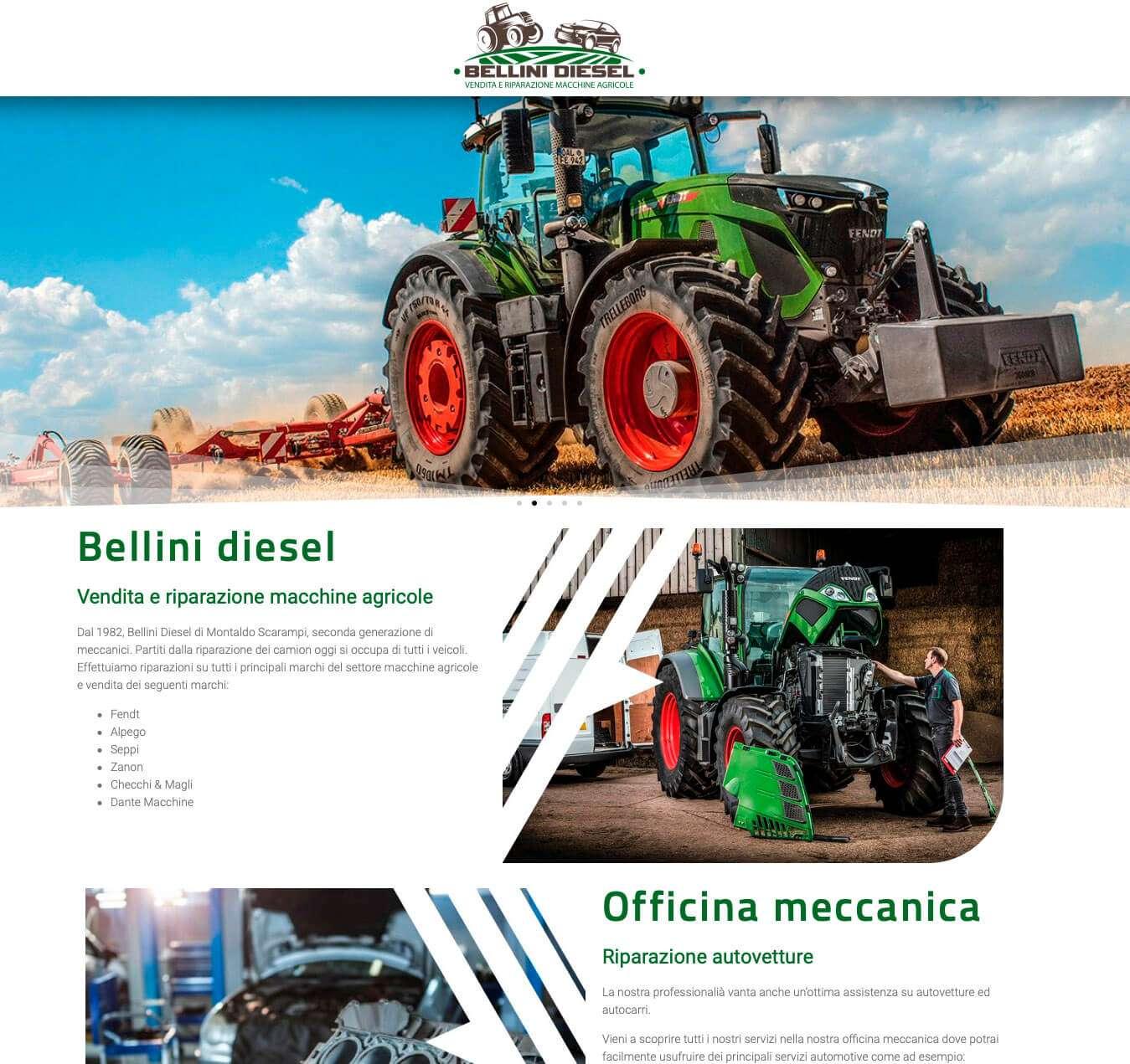 sito officine Asti mezzi agricoli Essetre Bellini Diesel