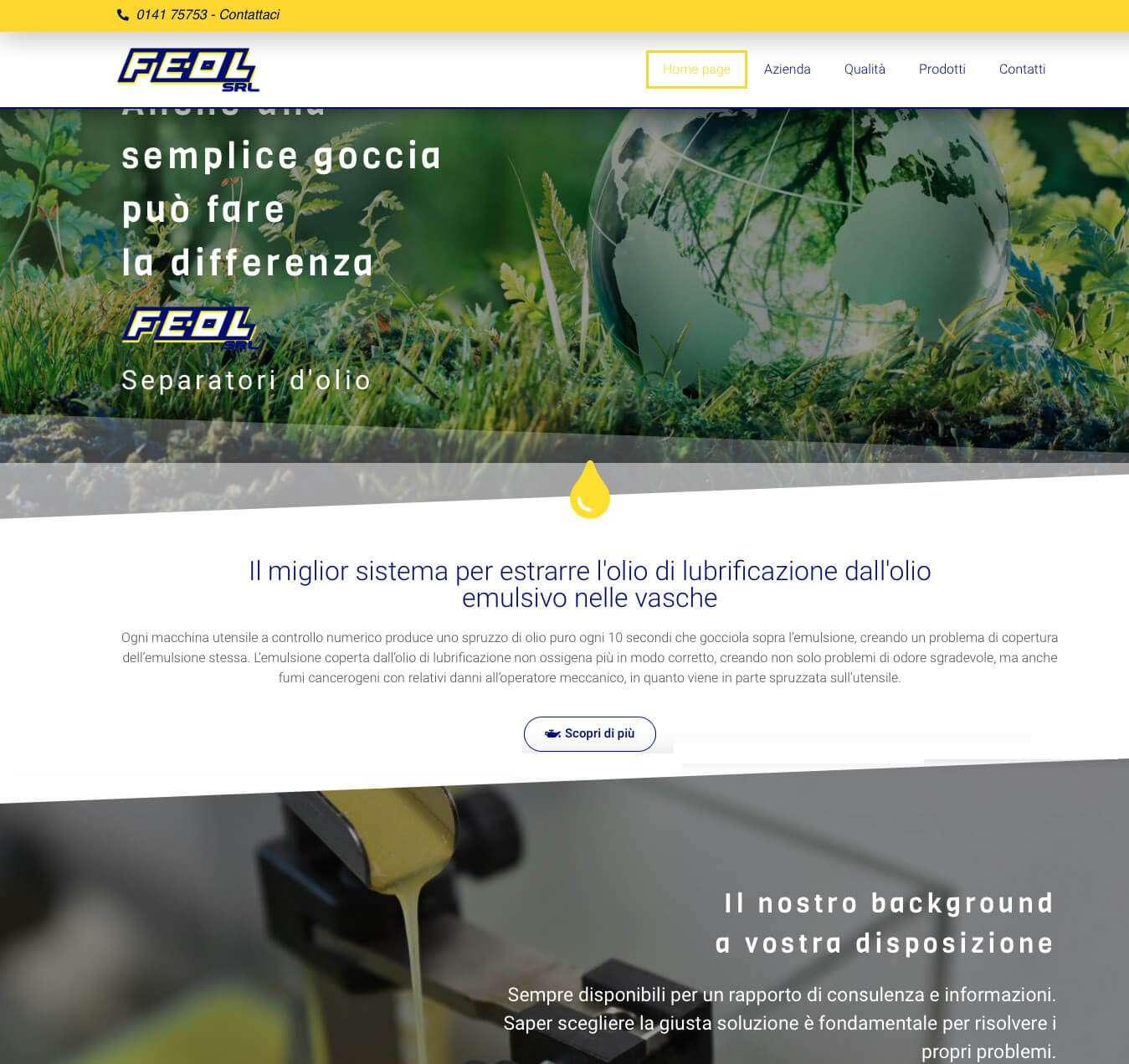 sito internet Asti Fe-Ol separatori olio Essetre agenzia web