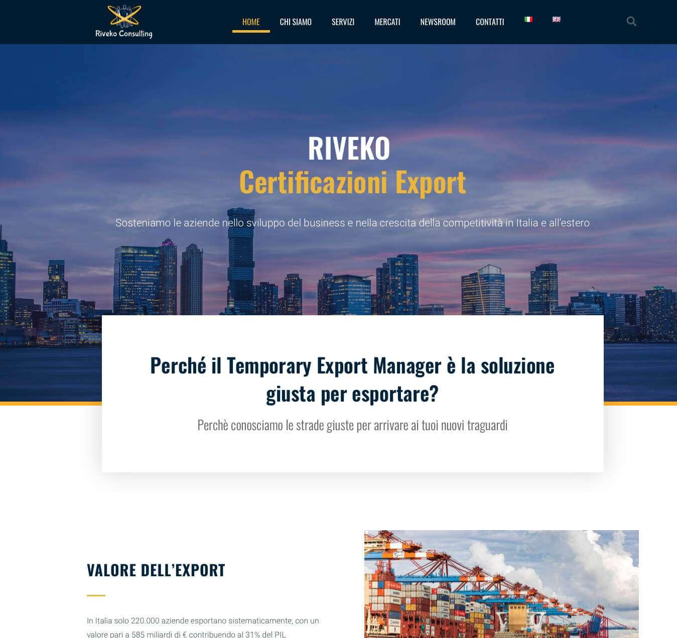 sito internet società consulenza internazionale Asti Riveko Essetre