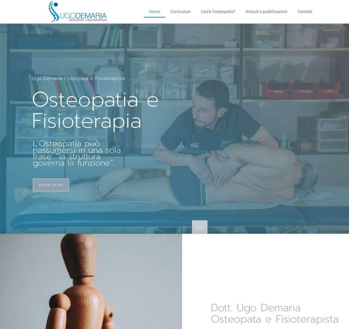 sito internet Osteopata Asti Ugo Demaria Hastafisio