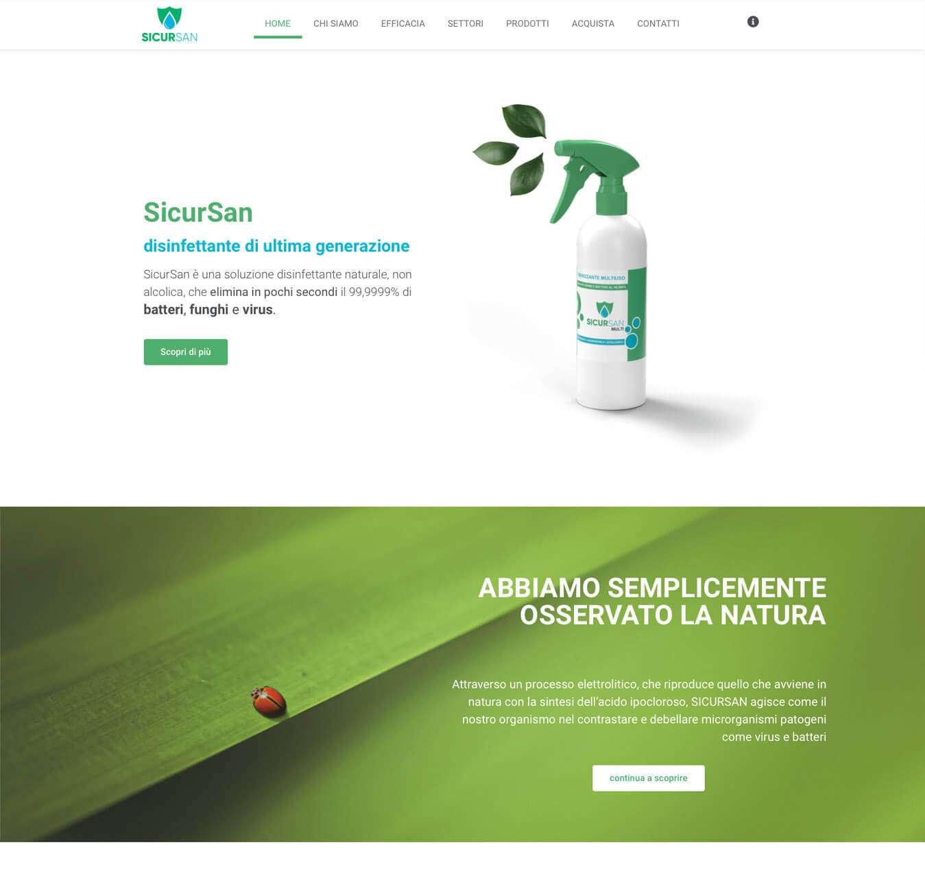 disinfettante acido ipocloroso sicursan Kirkmayer italia Asti Essetre sito e-commerce