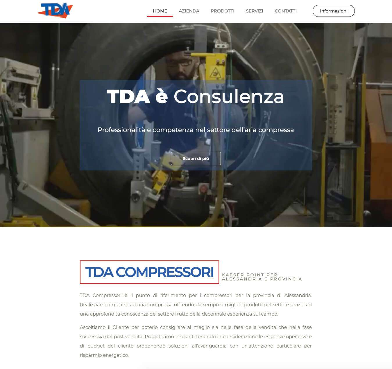 compressori Alessandria sito web Essetre TDA di Lusardi